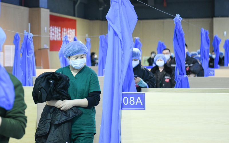 a special hospital for treating COVID-19 patients in Wuhan