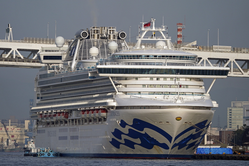 Diamond Princess Cruise ship docked off the coast of Japan with thousands under quarantine