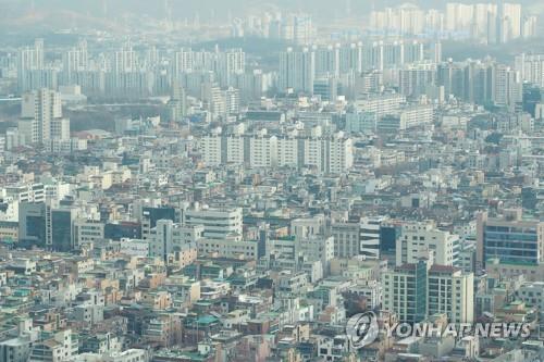 거래 얼어붙은 서울 주택가 전경