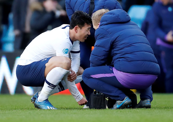 Son Heung-min sustains arm injury during match with Aston Villa, February 16