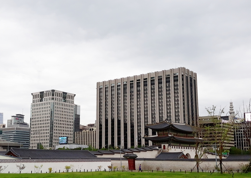 the building of the government complex in central Seoul
