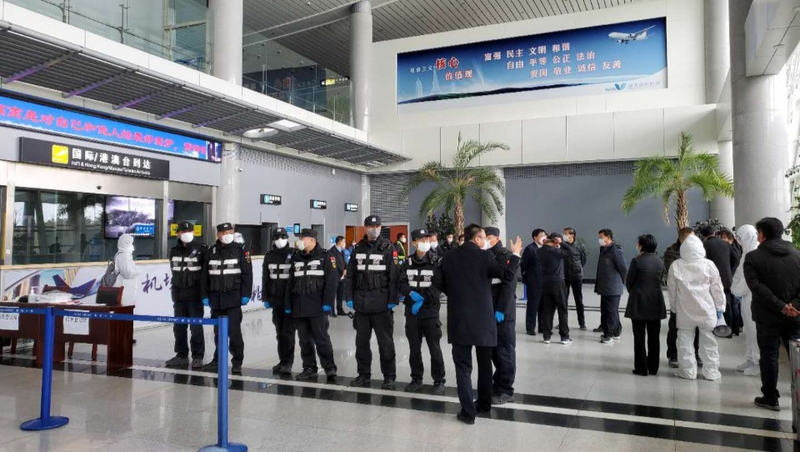 immigration control efforts underway in Weihai Airport in China
