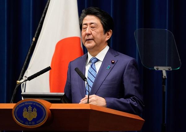 아베 일본 총리, 코로나19 기자회견