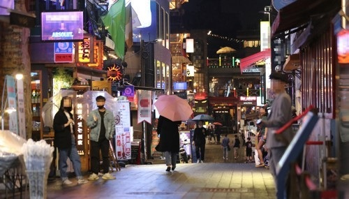 A back alley of Itaewon deserted due to a new cluster infection of the novel coronavirus