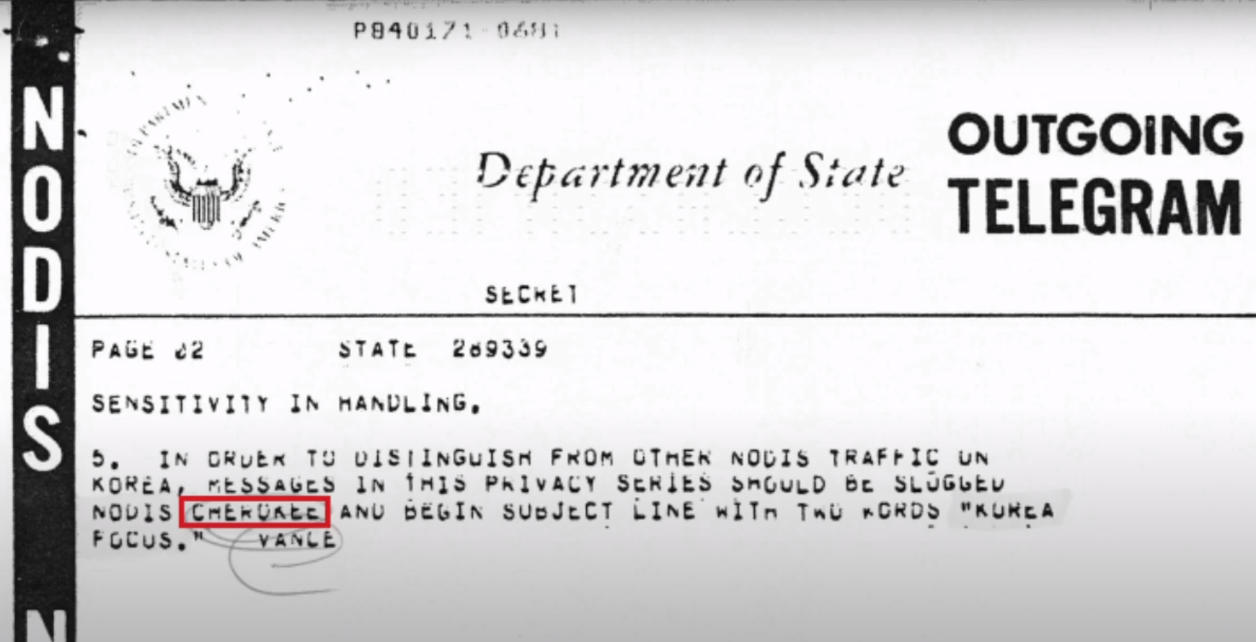 "Screenshot of ""Cherokee Files"" obtained by Tim Shorrock"