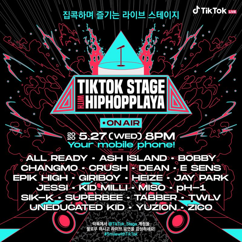 Poster for 'TikTok Stage with Hiphopplaya'