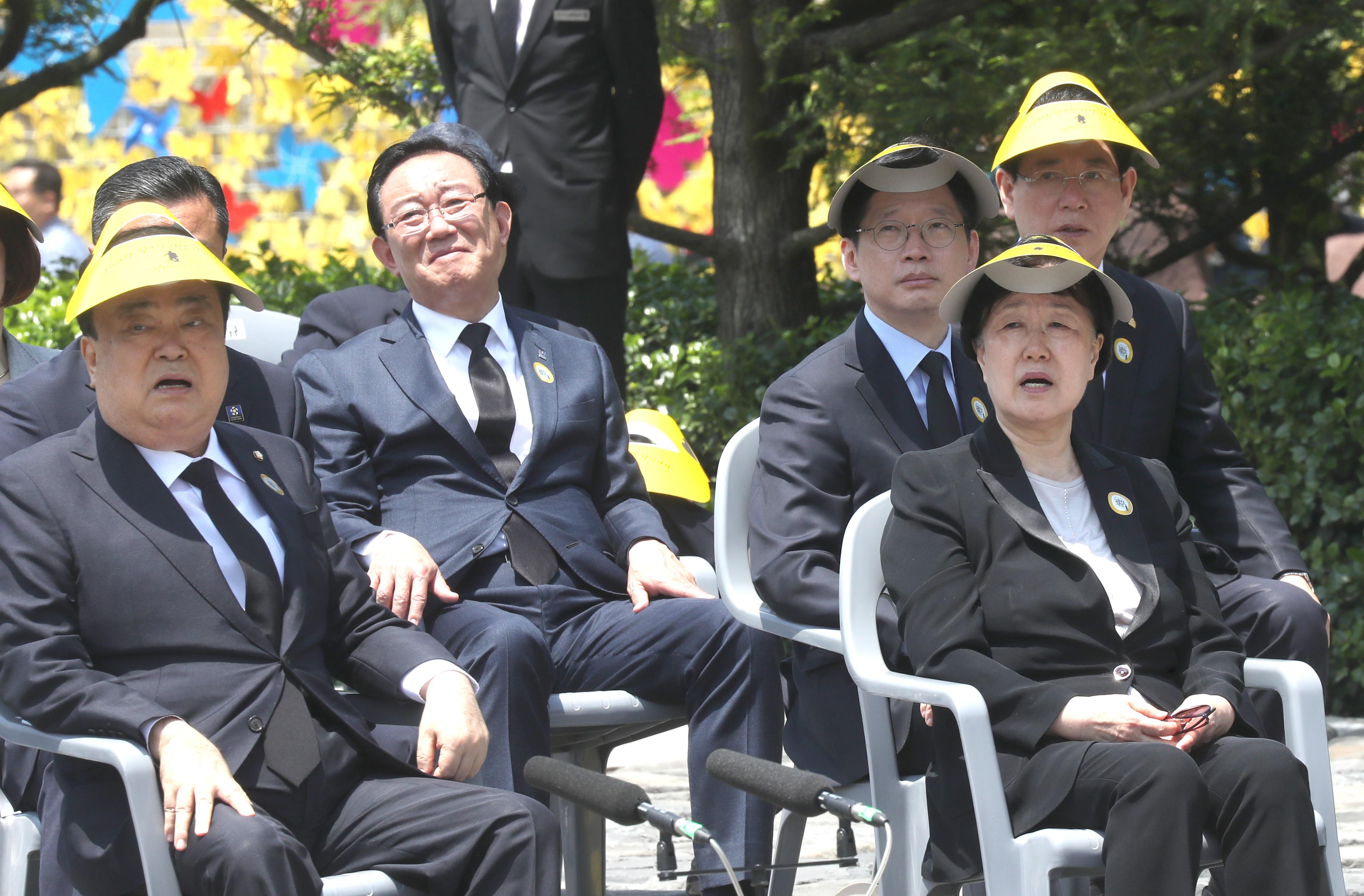 노무현 전 대통령 추도식 참석한 한명숙 전 총리