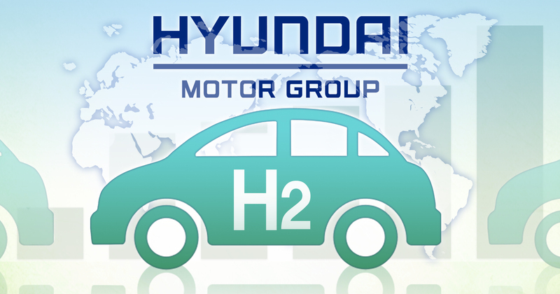 Depiction of Hyundai's hydrogen fuel cell vehicle
