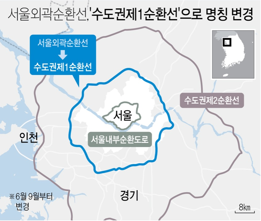 서울외곽순환선 명칭 변경
