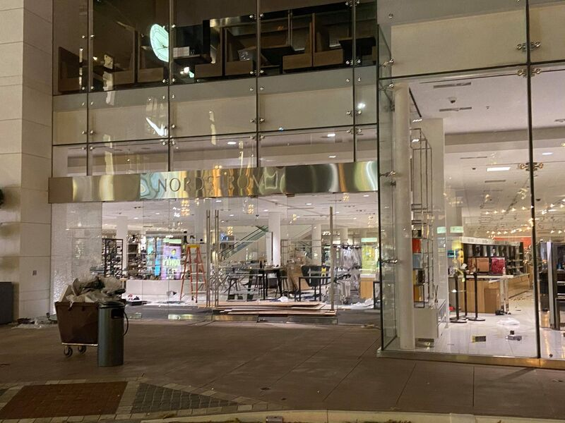 A department store in downtown Los Angeles is looted after protests Saturday.