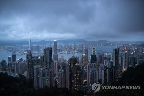 This file photo shows Hong Kong's skyline from Victoria Peak.
