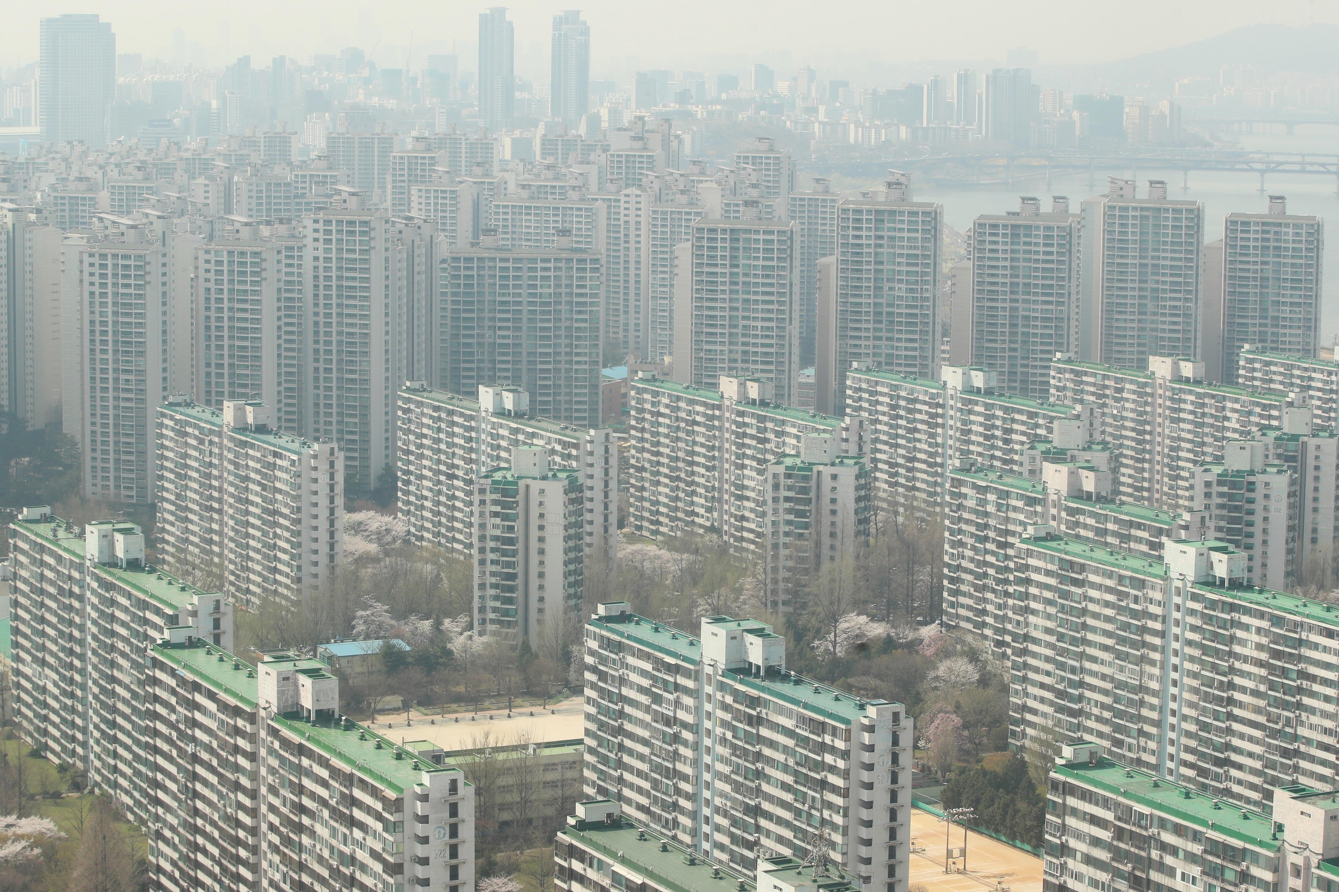 서울 강남 일대 아파트 단지