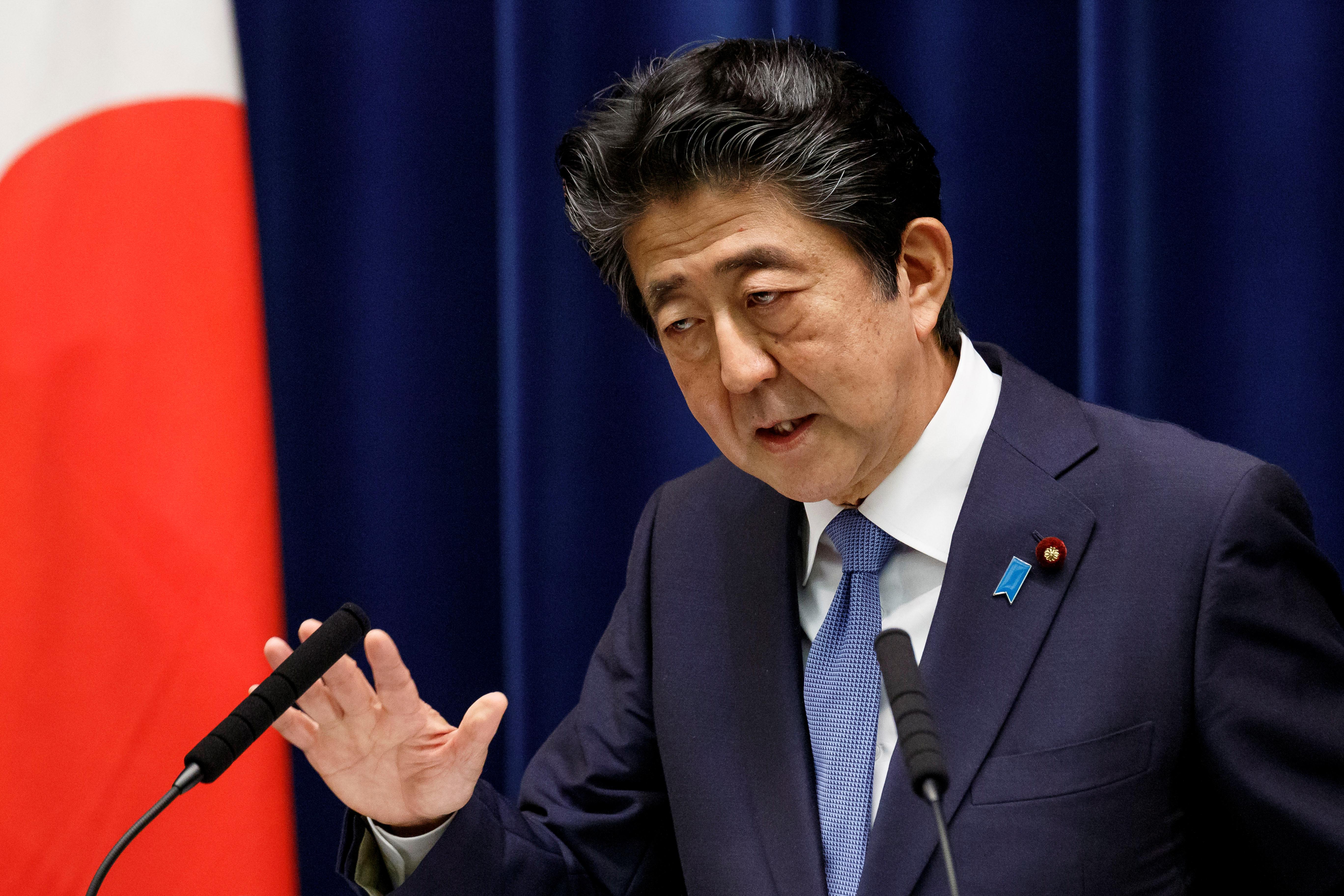 아베 신조 일본 총리 <사진=연합뉴스=로이터>