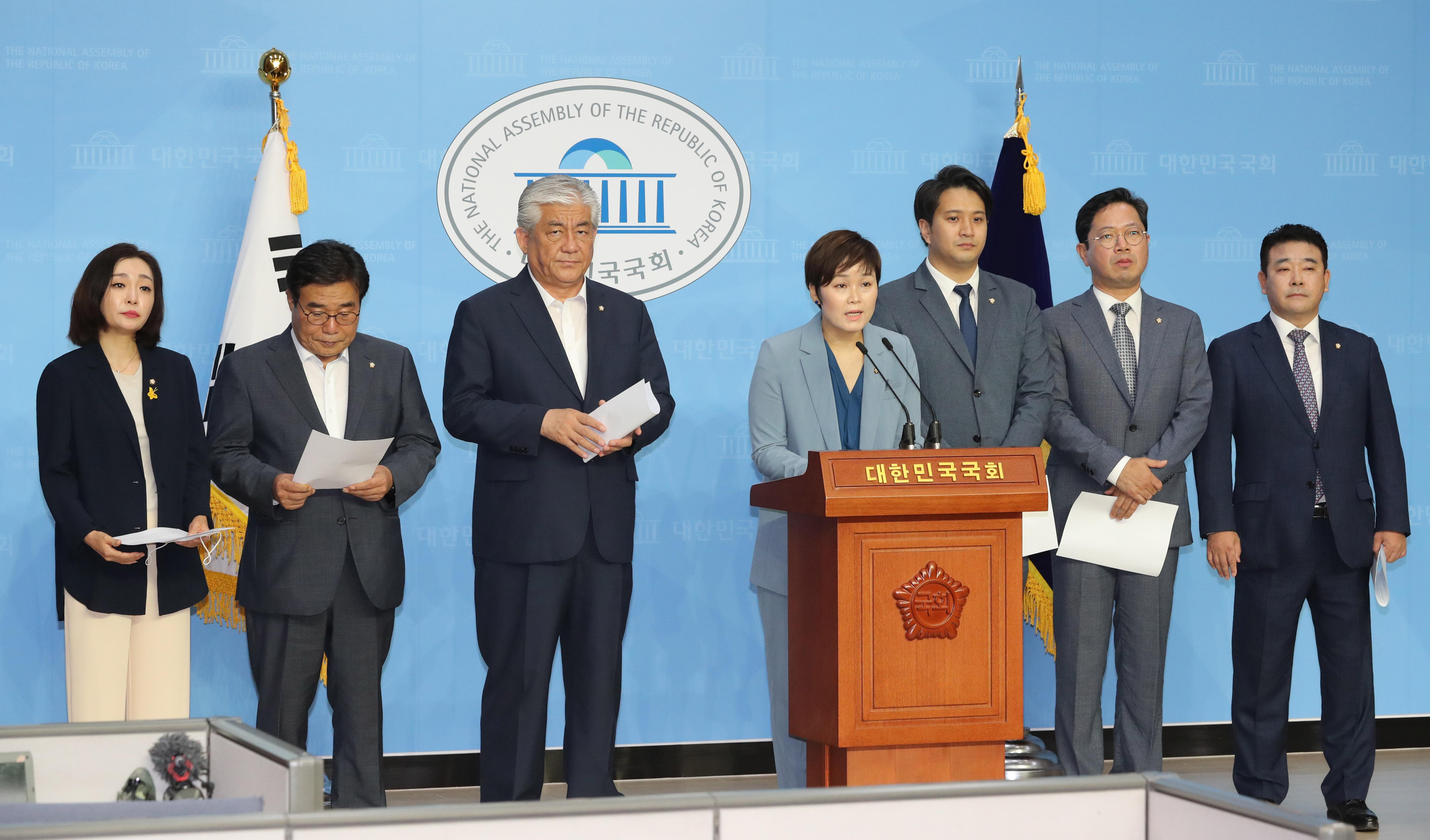 고 최숙현 선수 사망 사건 관련 기자회견 하는 민주당