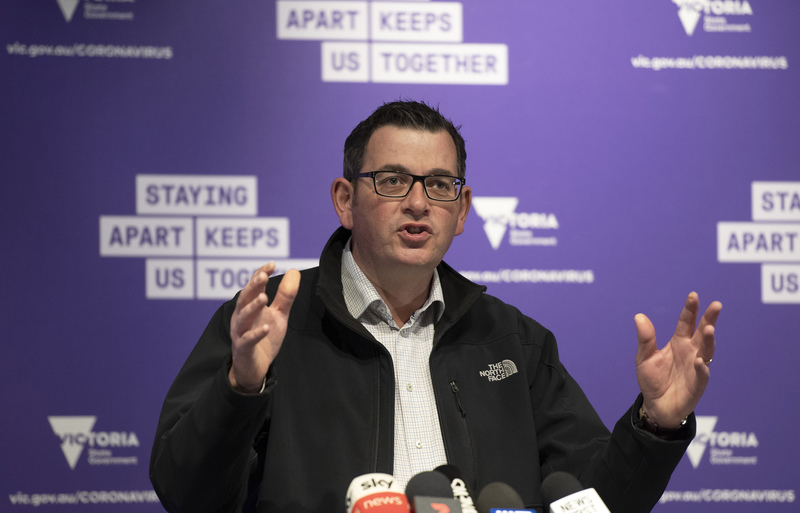 Victorian Premier Daniel Andrews briefs the media on conditions concerning the COVID-19 situation in Melbourne, Australia, on July 6, 2020.