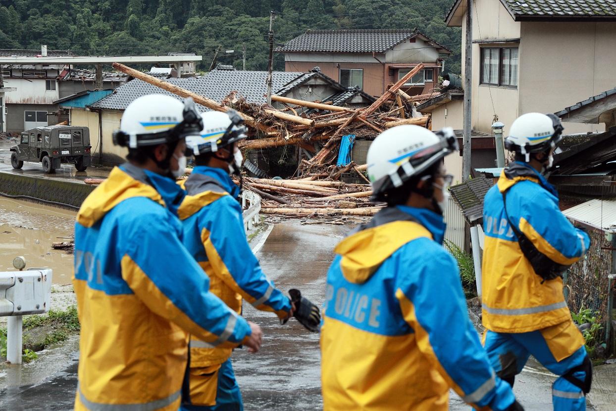일본 폭우 피해