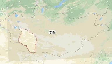 흑사병 의심 사망자가 나온 몽골 고비 알타이 지역(빨간색 테두리).