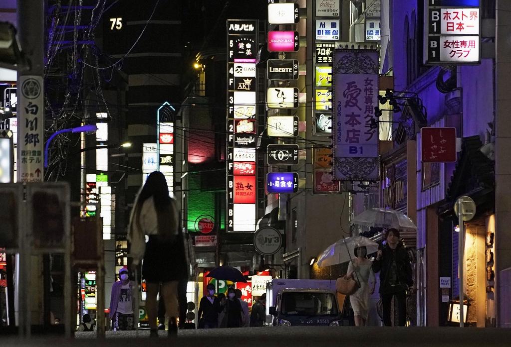 코로나19 확산하는 도쿄 밤거리