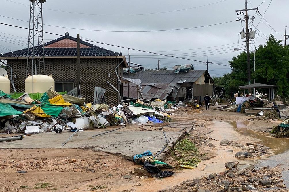 둑 무너진 이천 산양저수지 인근