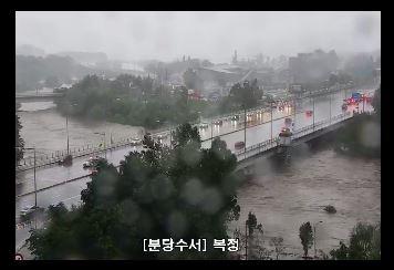 오늘(6일) 오전 7시 현재 서울 탄천<사진=서울시 TOPIS 제공>
