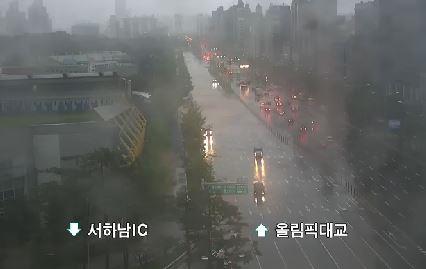 강동대로 침수구간<사진=서울시 TOPIS 제공>