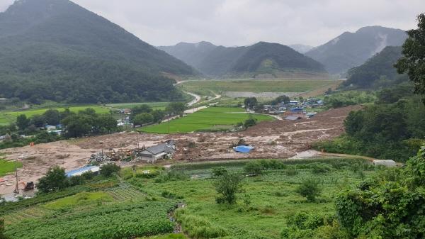 산사태로 사망자 발생한 곡성 마을