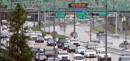 서울 도로 곳곳 통제