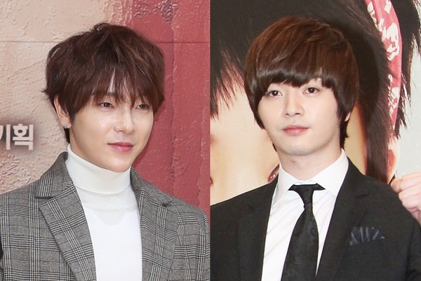 Yunhak (L) and Sungje, members of K-pop boy band SUPERNOVA