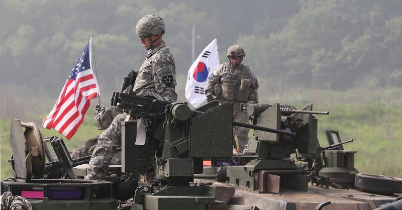 U.S. service members from the 2nd Infantry Division carry out a training in Paju.