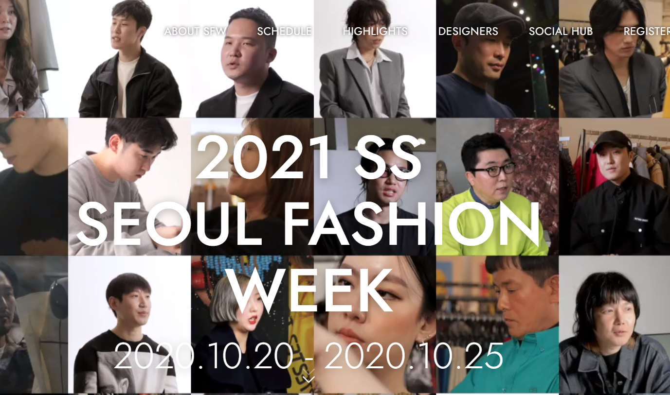 Screenshot: Seoul Fashion Week
