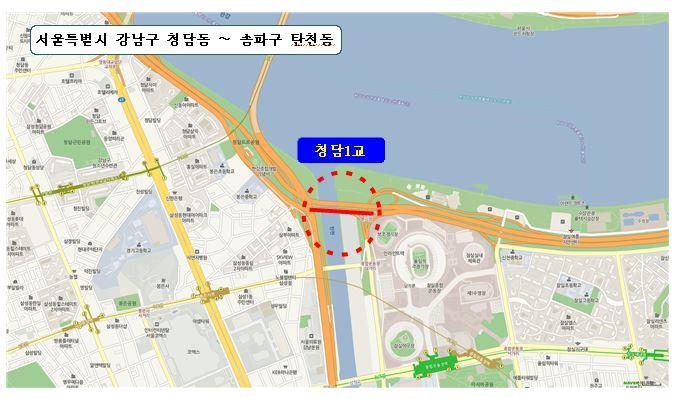 통랭중량 제한구간 위치도 <자료=서울시>