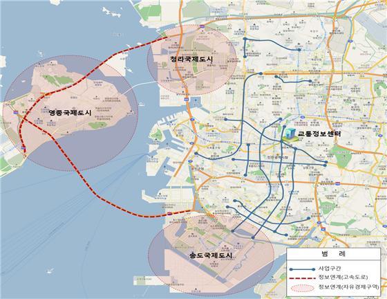 인천 시내 13개 간선도로에 지능형 교통체계 구축