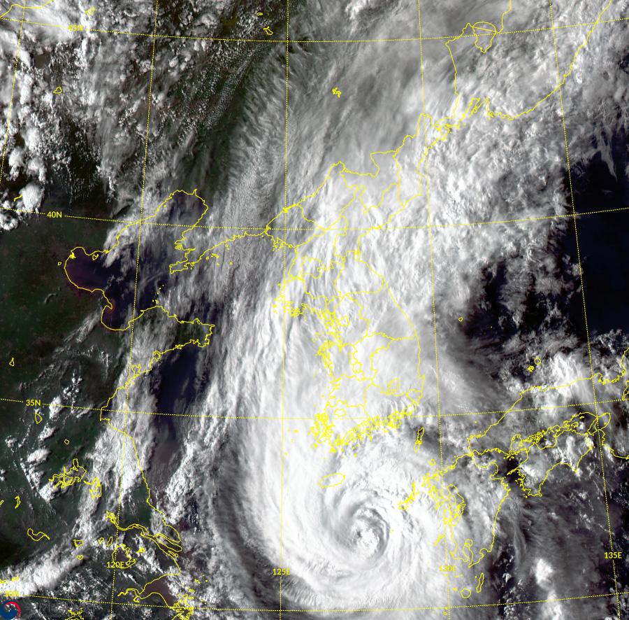 제9호 태풍 마이삭 모습