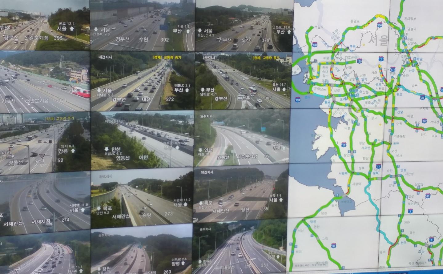 30일 오후 2시 한국도로공사 교통상황판 모습