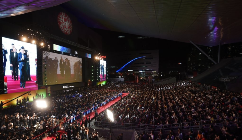 This file photo by Yonhap News shows the opening ceremony of the 24th Busan International Film Festival on Oct. 3, 2019.