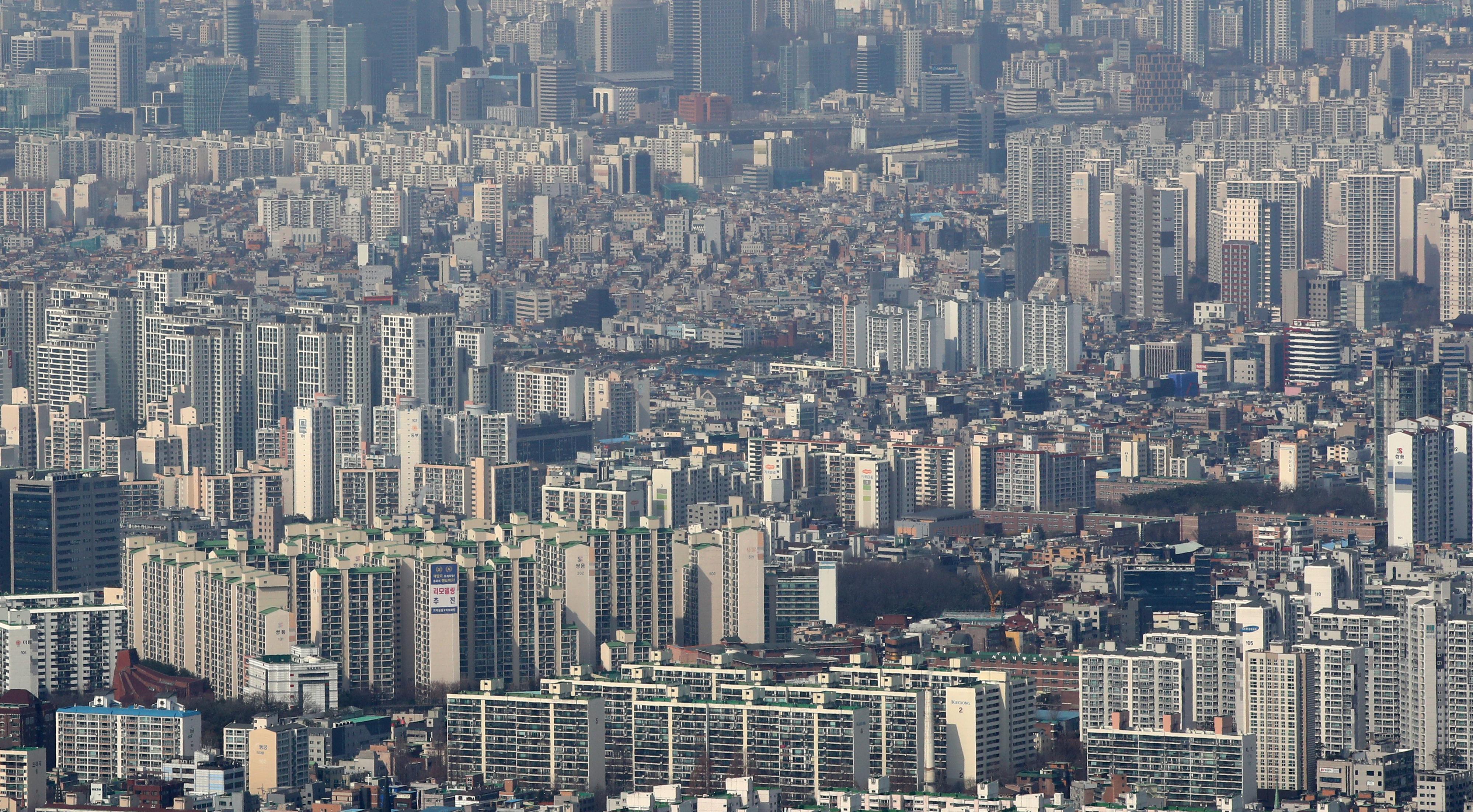 서울 아파트 단지 모습