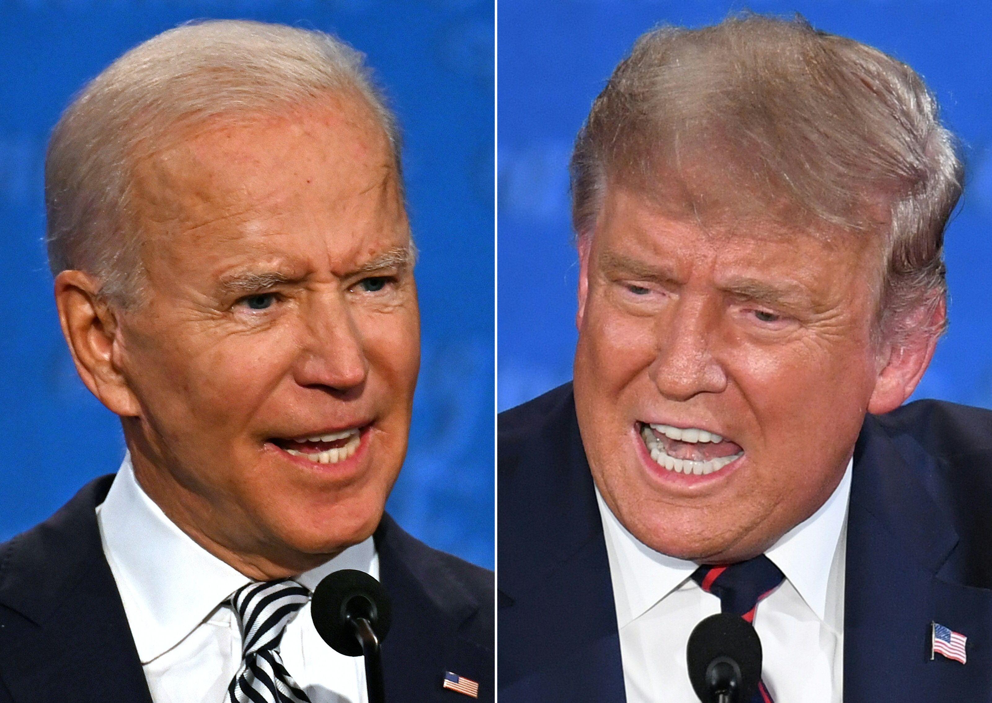 도널드 트럼프 미국 대통령과 조 바이든 민주당 대선후보