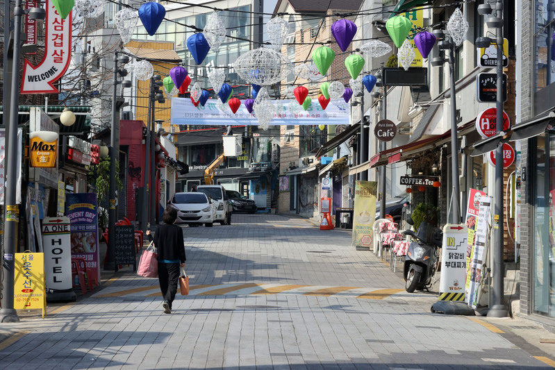 Itaewon gears up for Halloween weekend.