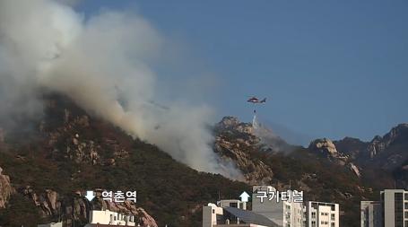 화재 - 북한산 족두리봉