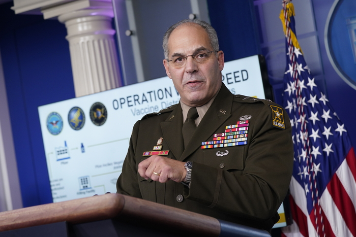 United States Army General Gustave F. Perna, chief operating officer of Operation Warp Speed (Photo: Yonhap News)