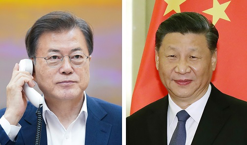 문 대통령, 시진핑 중국 국가주석과 통화