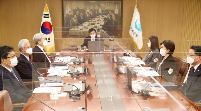 The Bank of Korea's Monetary Policy Committee holds its first meeting of the year at the central bank in Seoul on Jan. 15, 2021. (Photo: Yonhap News)