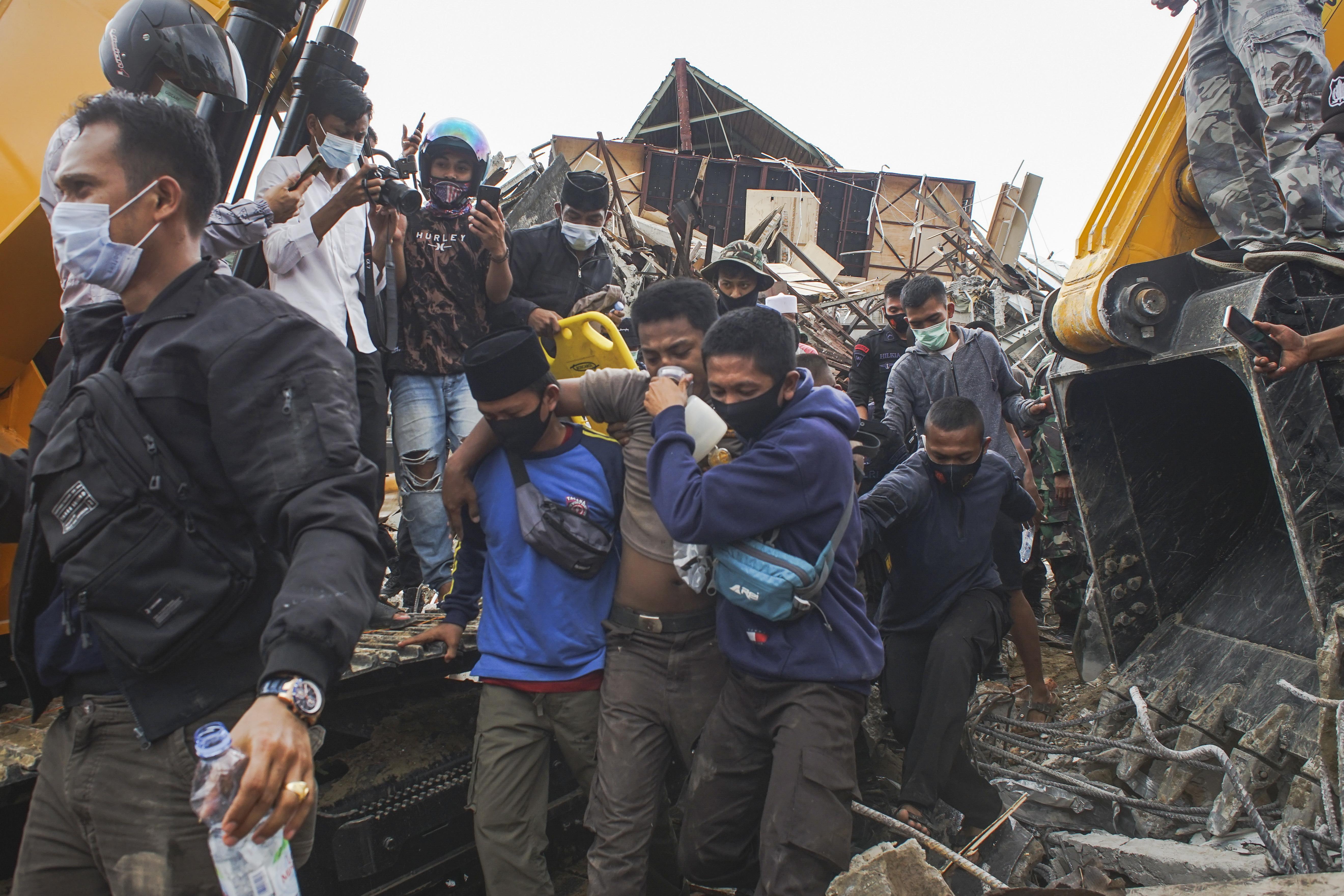 인도네시아  술라웨시섬 지진 피해 현장