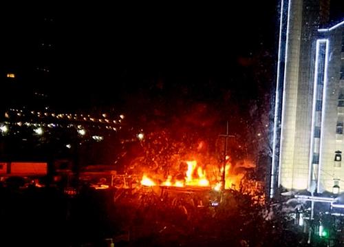 인천 중고차수출단지 화재