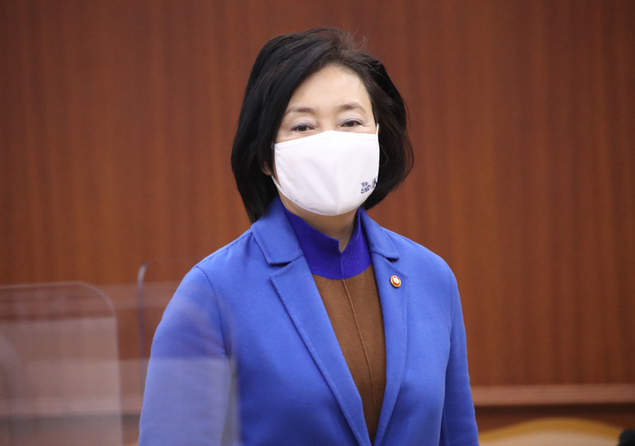 SME and Startups Minister Park Young-sun is stepping down from her post to run for the Seoul mayoral seat in the April 3 by-elections. (Photo: Yonhap News)