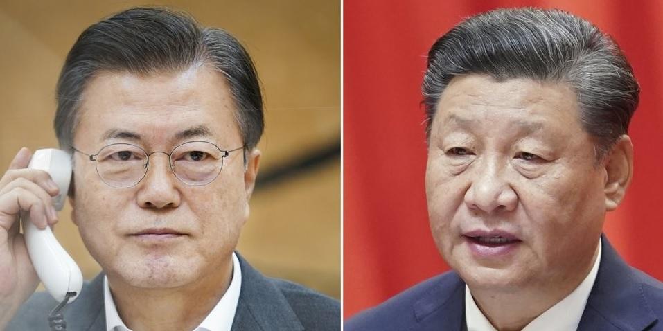 문재인 대통령과 시진핑 중국 국가주석