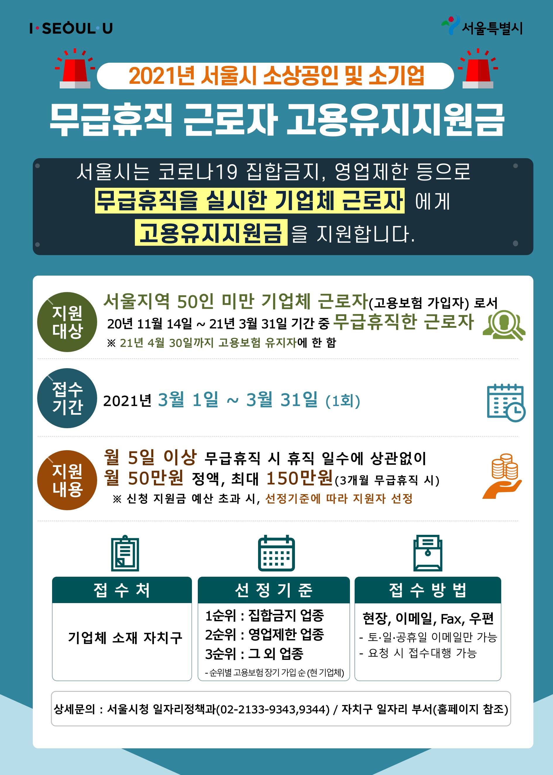 서울형 무급휴직 고용유지지원금