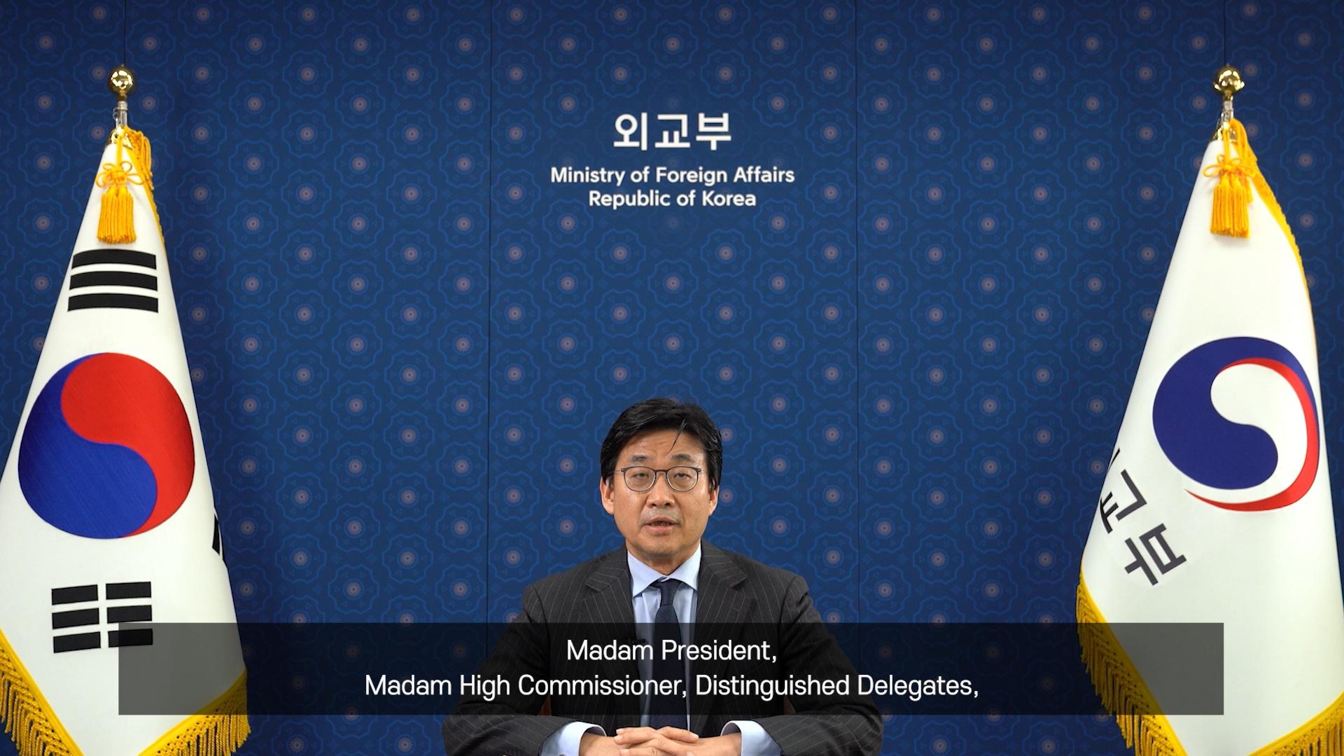 유엔 기조연설하는 최종문 외교부 2차관