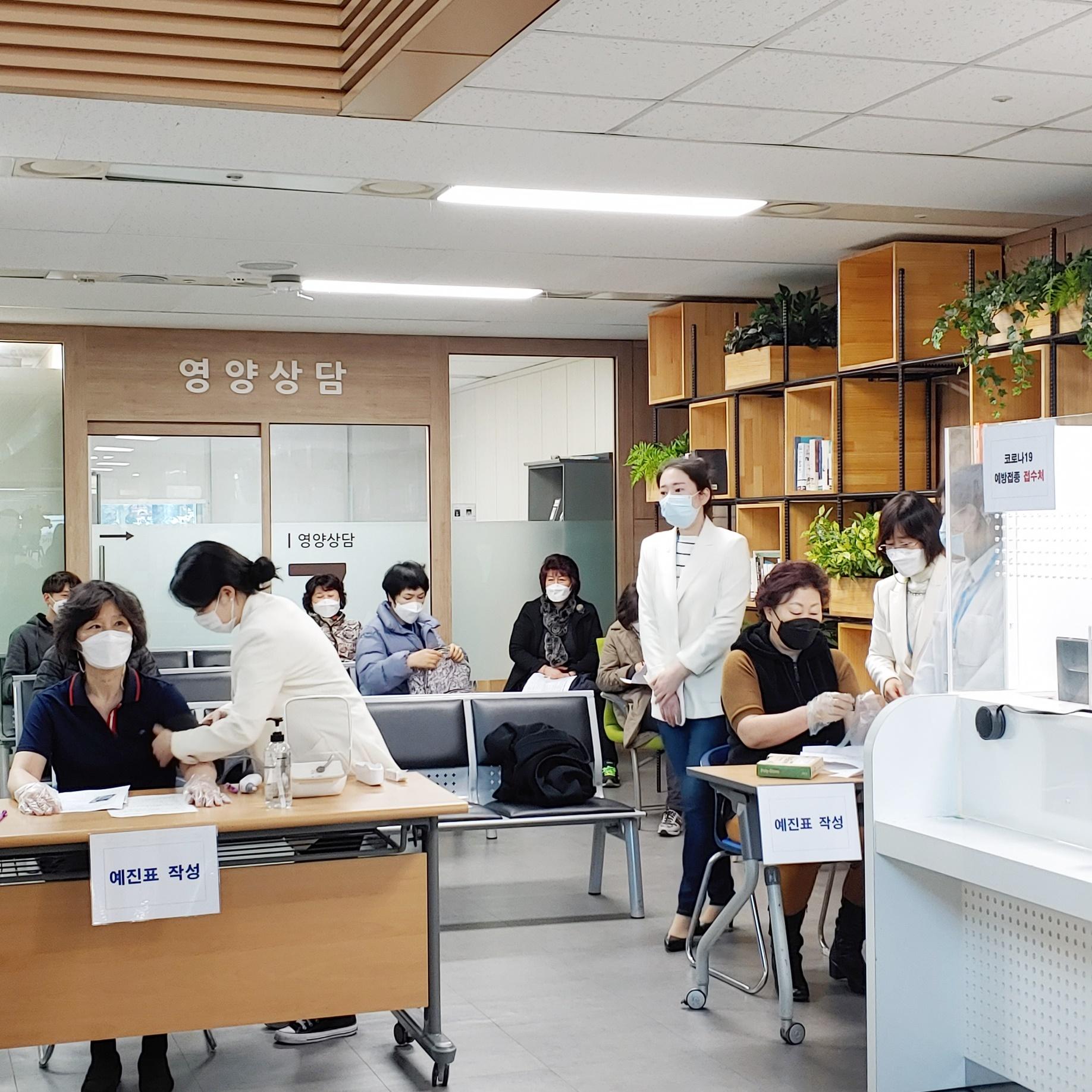 2월 26일 서울 관악구 코로나19 예방 백신 접종 현장