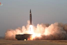 North Korea said on March 26, 2021, that it tested a ballistic missile the previous day. (Photo: Yonhap News)